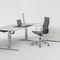 executive desk / wood veneer / laminate / lacquered metal