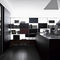 contemporary kitchen / wooden / glass / island