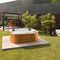 Above-ground hot tub / rectangular / 4-seater / outdoor DELOS by Kaluderovic & Condini Jacuzzi®
