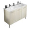 double washbasin cabinet / free-standing / wooden / melamine