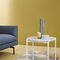Contemporary side table / steel / marble / polyester NIOBE by Federica Capitani Zanotta