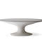 contemporary dining table / cement / oval / gray