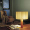 table lamp / contemporary / cotton / solid wood