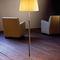 floor-standing lamp / contemporary / metal / fabric