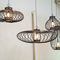 pendant lamp / contemporary / powder-coated steel / handmade