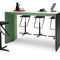 Contemporary high bar table / wood veneer / melamine / fabric WINEA PLUS by Michael Hilgers WINI Büromöbel Georg Schmidt GmbH & Co. KG