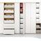 modular shelf / contemporary / melamine / wood veneer