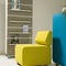 contemporary fireside chair / fabric / commercial / for public buildings
