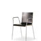 Contemporary visitor chair / molded plywood / leather / with armrests NICK Fantoni