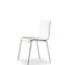 Contemporary visitor chair / with armrests / stackable / molded plywood NICK Fantoni