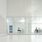Floor-mounted office divider / glass / aluminum I-WALLSPACE Fantoni