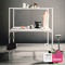 contemporary work table / laminate / square / commercial