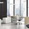 executive desk / wood veneer / leather / contemporary