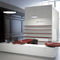 wall-mounted bookcase / contemporary / for offices / wooden