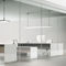 contemporary work table / MDF / rectangular / for offices