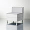 Contemporary visitor armchair / fabric / leather / wooden AT Fantoni