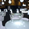 contemporary dining table / glass / polyethylene / round