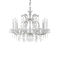 traditional chandelier / steel / crystal / handmade