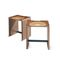 contemporary stool / oak / walnut / ash