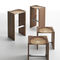 Contemporary stool / oak / walnut / ash RIPPLES by StH HORM.IT