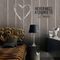 contemporary wallpaper / vintage / striped / brown