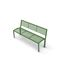 public bench / contemporary / galvanized steel / painted steel