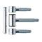 door hinge / nickel-plated / zinc-plated steel / galvanized