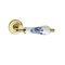 Door handle / brass / porcelain / contemporary EASY : MAYA PASINI METALS PRODUCTIONS S.R.L.