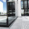 facade drainage channel / steel / with grating