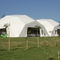 tensile dome / sail / wooden frame / roof