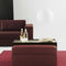 contemporary ottoman / fabric / square / with removable cover