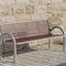 Public bench / traditional / aluminum / stainless steel COMFONY 150 BENKERT BÄNKE