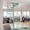 circular staircase / metal frame / glass steps / without risers