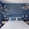 Oriental wallpaper / silk / floral / hand-painted