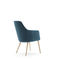 contemporary armchair / solid wood / synthetic leather / upholstered