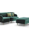 traditional sofa / fabric / for public buildings / with armrests