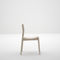 contemporary restaurant chair / stackable / wooden