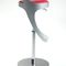 contemporary bar stool / leather / stainless steel / aluminum