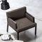 contemporary armchair / solid wood / bridge / contract