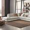 corner sofa / contemporary / leather / 2-person