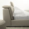 double bed / contemporary / upholstered / with adjustable headboard