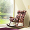 traditional armchair / wooden / fabric / rocker