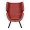 contemporary armchair / fabric / ash / wing