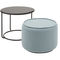 contemporary coffee table / steel / round / contract