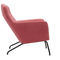 contemporary armchair / fabric / steel / with footrest