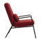 Scandinavian design chair / fabric / steel / contract