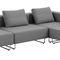 modular sofa / contemporary / fabric / chromed metal