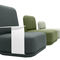 contemporary fireside chair / fabric / with removable cover / customizable color
