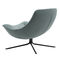 contemporary fireside chair / fabric / chromed metal / swivel