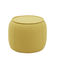 contemporary pouf / fabric / wooden / round